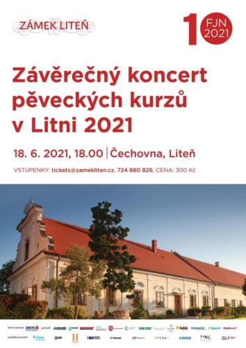 Závěrečný koncert interpretačních kurzů v Litni zve na pěvecké umění 18. června na zámek Liteň